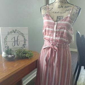 Brand new stripe linen dress